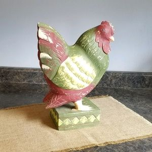 Large Foreside Wooden Chicken